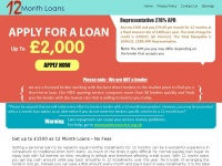 12monthloansnofees.co.uk