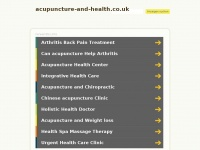 Acupuncture-and-health.co.uk