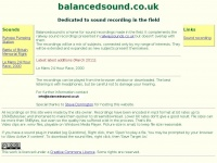 Balancedsound.co.uk
